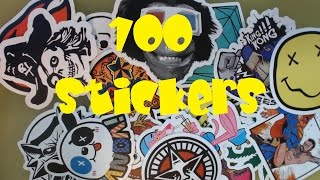 100 Random Stickers Unboxing!