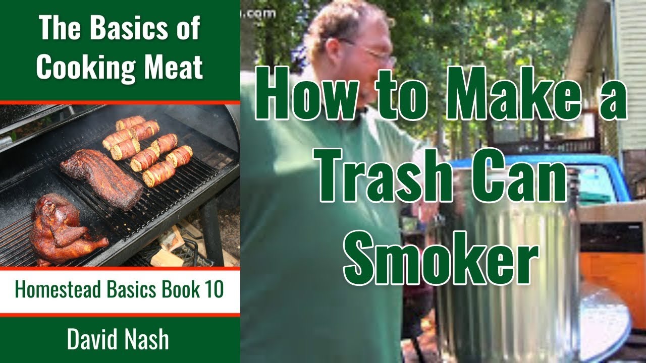 how to make a trash can cold smoker youtube