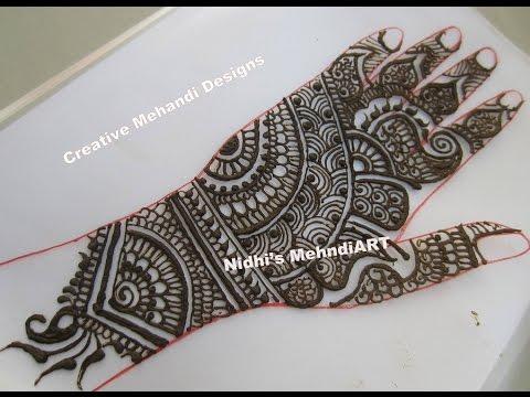 Freehand Traditional Indian Pakistani Wedding Henna Mehndi Design