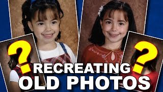 We Recreated Our Old Childhood Photos - Merrell Twins