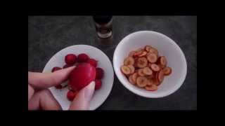 Crab Apple Chips, Tart Healthy Snack Recipe With No Added Sugar In Philips Airfryer