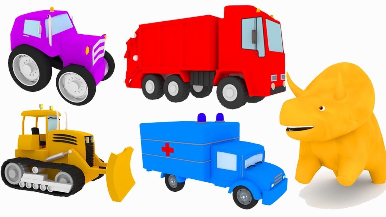 Impara i colori con camion e dino il dinosauro cartone