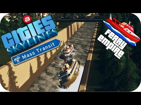 Cities Skylines Gameplay: SUEZ CANAL!! Cities: Skylines MASS TRANSIT DLC Ferry Empire Scenario #2