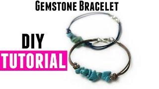 Gemstone Bracelet with Waxed Cord - DIY Jewelry Making