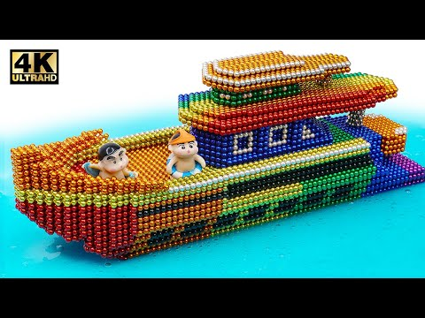DIY - How To Make Modern Yatch From Magnetic Balls ( Satisfaction ) | Magnet World 4K