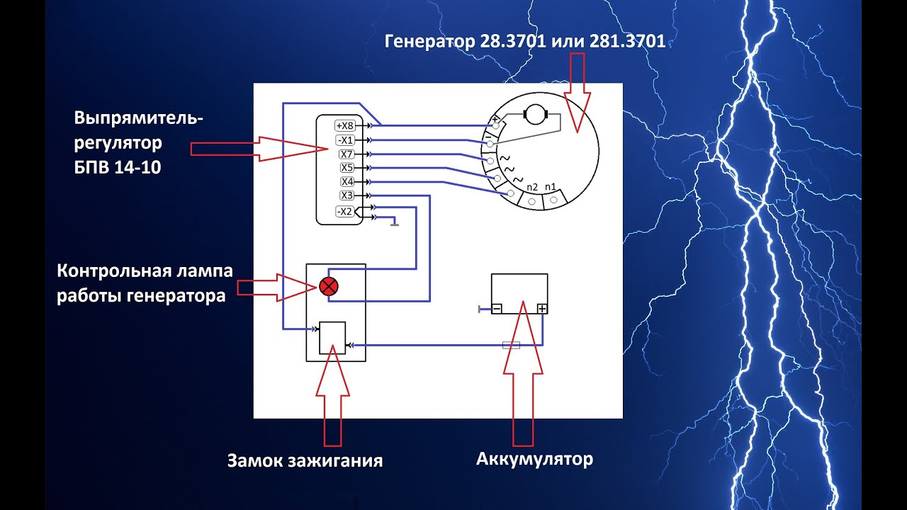 Схема проводки иж 4 к