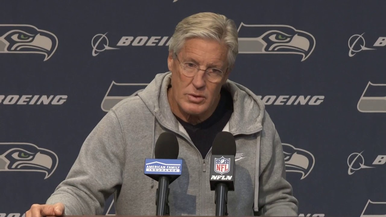 Pete Carroll on Player Availability 2019-10-28