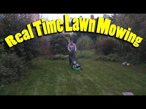 Real time lawn mowing - no talking no music