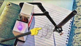 DOODLING ROBOT!!? It draws for you!  (LineUs REVIEW)   Knoptop