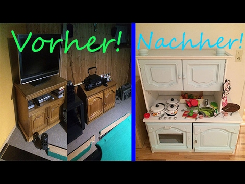 Diy spielk che playkitchen upcycling alte m bel - Upcycling mobel ...