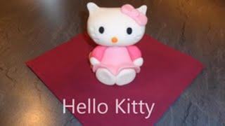 Hello Kitty Figur aus Fondant