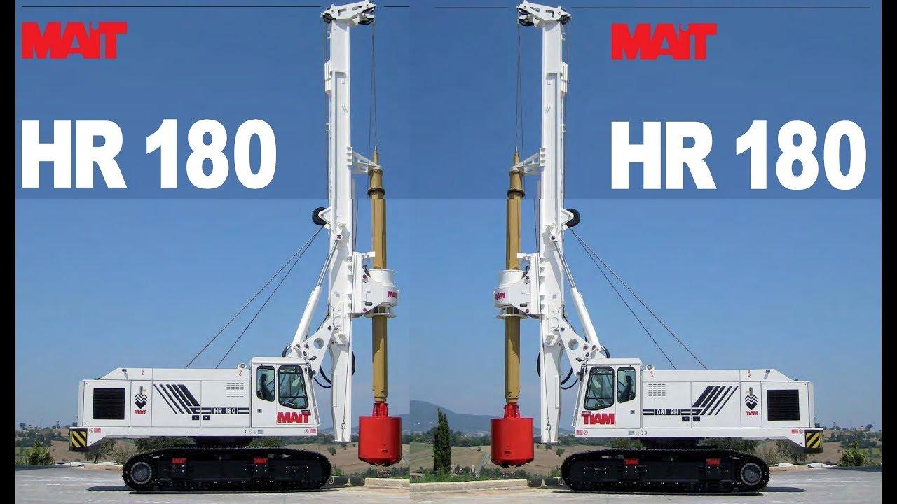 Mait Hydraulic Rotary Rig HR 180 || Mait piling Rig HR 180