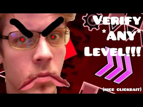 Geometry Dash - VERIFY GLITCH! | VERIFY ANY LEVEL! | CLICKBAIT!