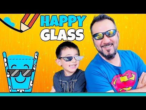 MUTLU VE GÖZLÜKLÜ BARDAK!   HAPPY GLASS OYNUYORUZ (37-50)