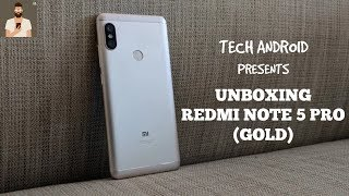 UNBOXING REDMI NOTE 5 PRO (GOLD EDITION)