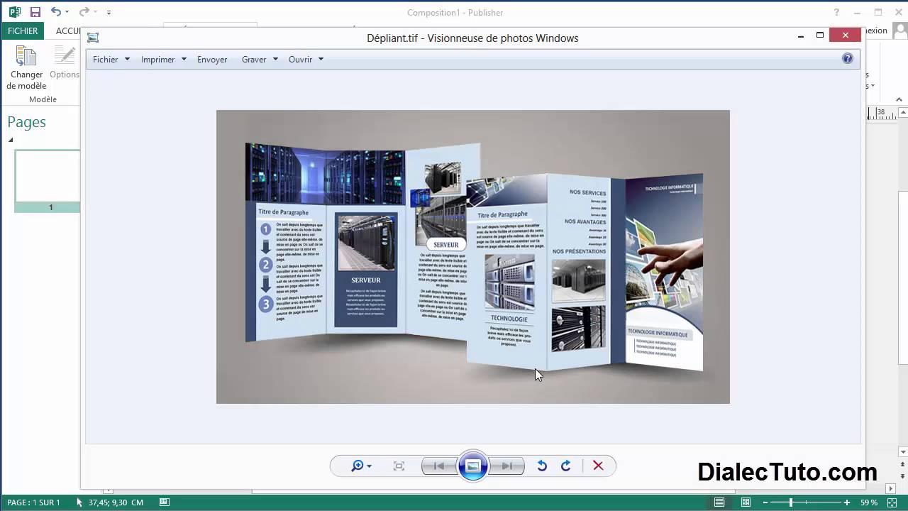 Bekannt Tutoriel Ms Publisher || Création dépliant 3 volets recto-verso (1  OR36