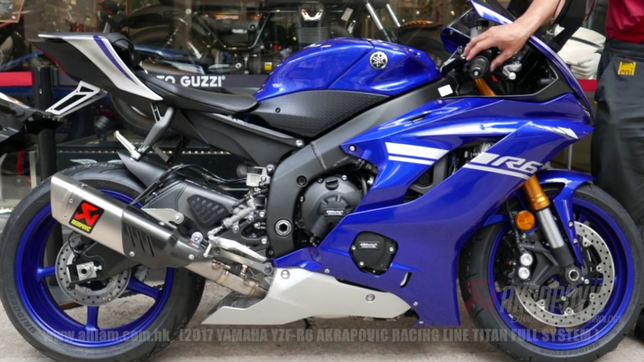 17 YZF R6 Akrapovic Racing Full System By Ahlamhk