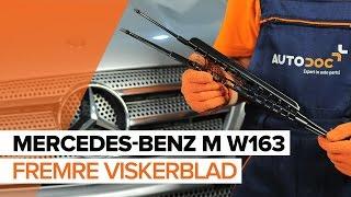 Hvordan bytte Fremre viskerblad på MERCEDES-BENZ M W163 [BRUKSANVISNING]