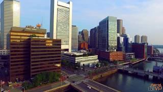 Drone View of Boston 4K