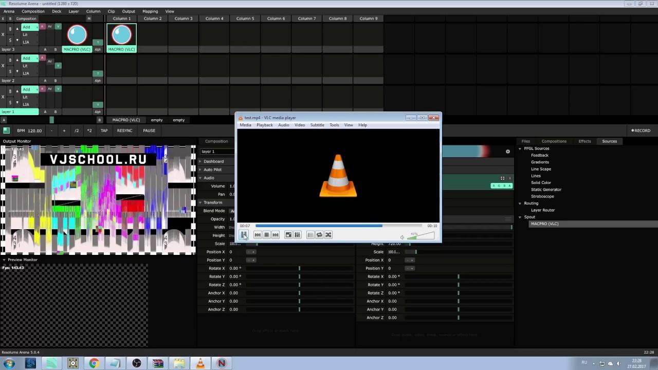VLC to Resolume via Spout