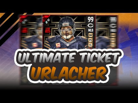 ULTIMATE TICKET BRIAN URLACHER OMG!! THE BEST USER LINEBACKER IN MUT!! - Madden 17 Ultimate Team