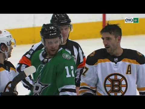 NHL Fight: Boston Bruins and Dallas Stars mix it up at the American Airlines Center