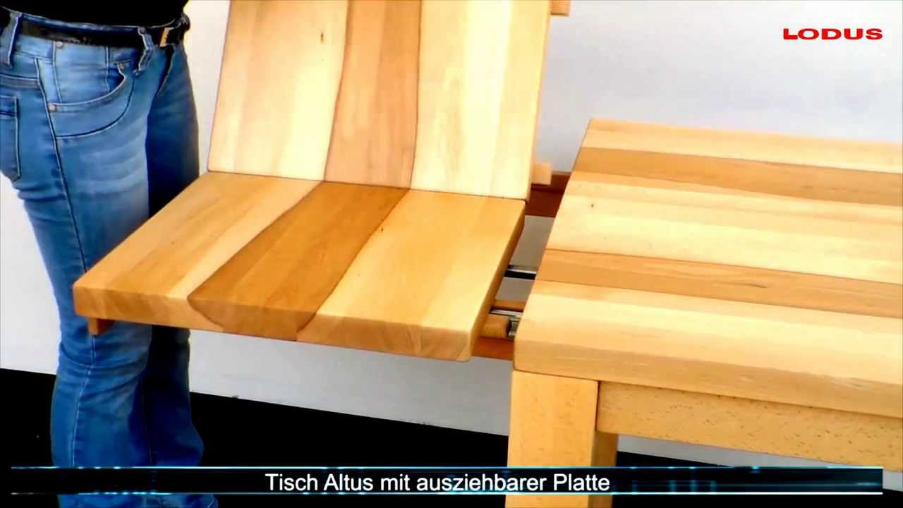 tisch ausziehbar youtube. Black Bedroom Furniture Sets. Home Design Ideas