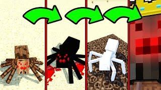 КАК МЕНЯЛСЯ ПАУК ПАУКАН И ЕГО ЖИЗНЕННЫЙ ЦИКЛ В МАЙНКРАФТ ~ ЭВОЛЮЦИЯ ПАУКА ПАУЧКА В MINECRAFT SPIDER