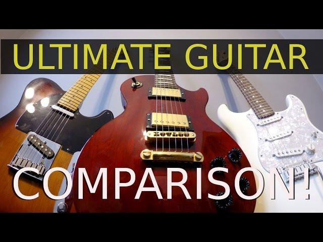 STRAT, TELE or LES PAUL  - Ultimate Guitar Comparison!