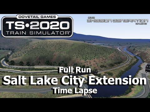 Salt Lake City Extension - Time Lapse - Train Simulator 2020 |