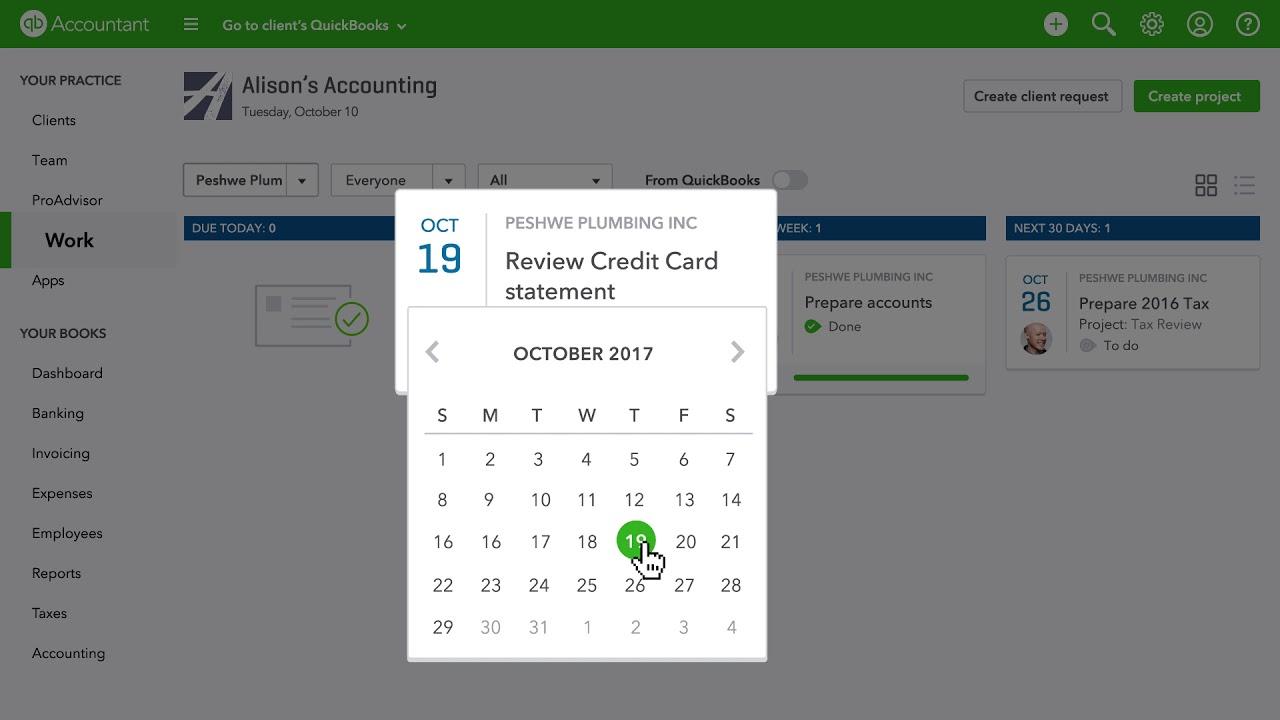 Practice Management features in QuickBooks Online Accountant