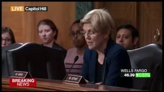 Warren Blasts Wells Fargo's CEO for Letting Retail Bank Chief Retire With Bonus During Probe