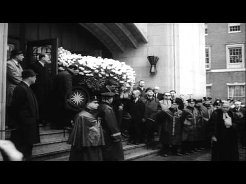United States President Lyndon Johnson attends funeral of First Lady of New York,...HD Stock Footage