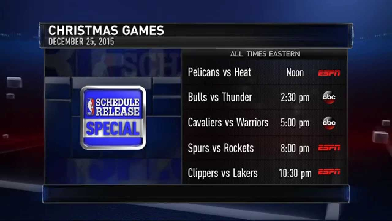 Nba Christmas Day Schedule.Nba Unveils Christmas Day Schedule 2015