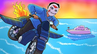 GTA 5 Funny Moments - Delirious Stunts, Rocket Bike Races, Nogla Ruins Everything! (Gun Running DLC)