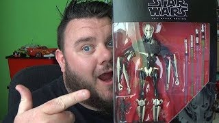 Star Wars Black Series General Grievous Deluxe 6'' Action Figure Unboxing Hasbro Toy Review