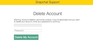 How to change your Snapchat user name and delete your account
