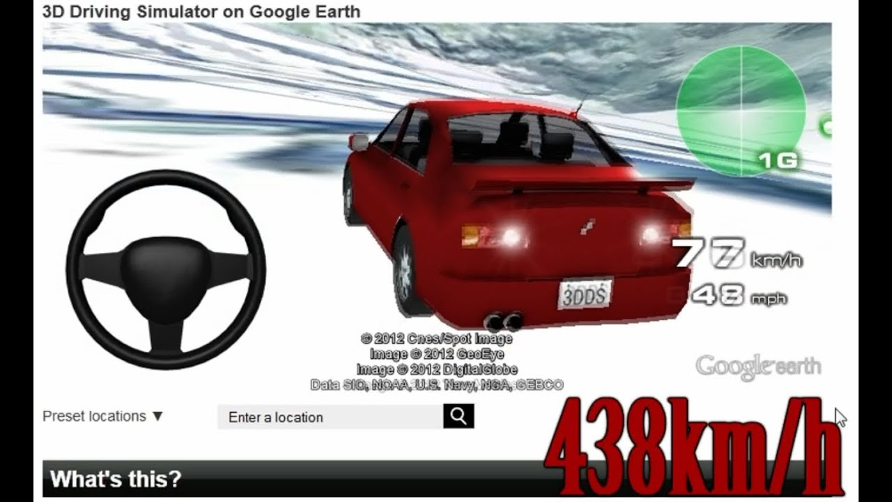 Fastest Speed In 3d Driving Simulator On Google Earth 438km H