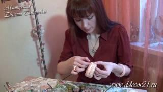 Декупаж рисовой бумагой: стильный декор браслета(, 2013-04-01T16:34:49.000Z)