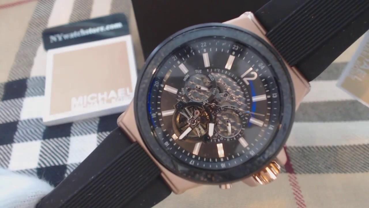 41a3ef7ffa79 Men s Michael Kors Rose Gold Automatic Watch MK9019 - YouTube