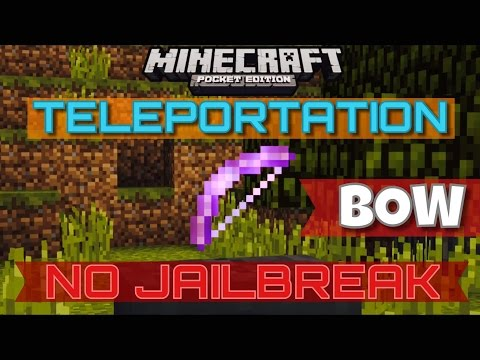 ✔️(NO JAILBREAK) TELEPORT IN MCPE {0.12.3} | Teleportation Bows in Minecraft Pocket Edition!