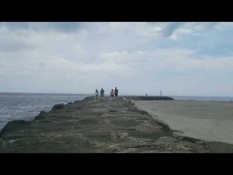 Avalon, NJ   Walking The BEACH JETTY! - YouTube