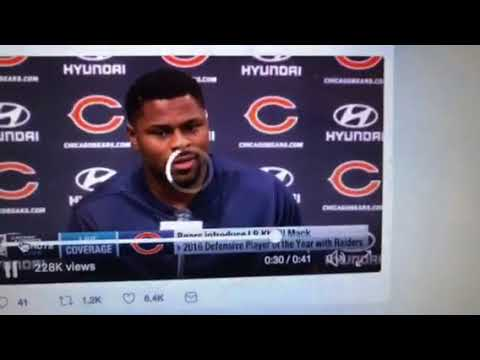 Khalil Mack A Chicago Bears Player, Difficult Day For Oakland Raiders Fans