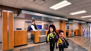 Freddie Mercury tries to leave the country but he doesn't know how to fly the plane
