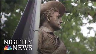 Controversial Confederate Statue Toppled On UNC Campus By Protesters | NBC Nightly News