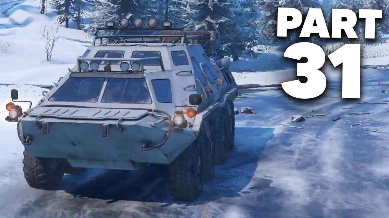 SNOWRUNNER Gameplay Guía Parte 31 - NO ME PUEDES VER + vídeo