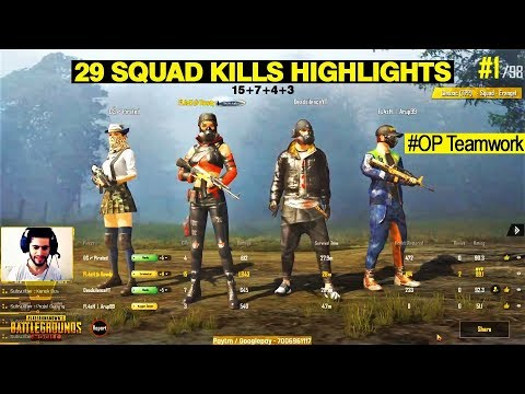 "PUBG Mobile | ""29 Kills"" Awesome teamwork with Chicken dinner"