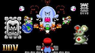 100 Rooms of Enemies (Do or Die Mode) - 100 Enemy Boss Rush | Super Mario