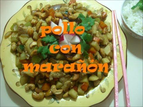 pollo con marañón (cashew chicken)