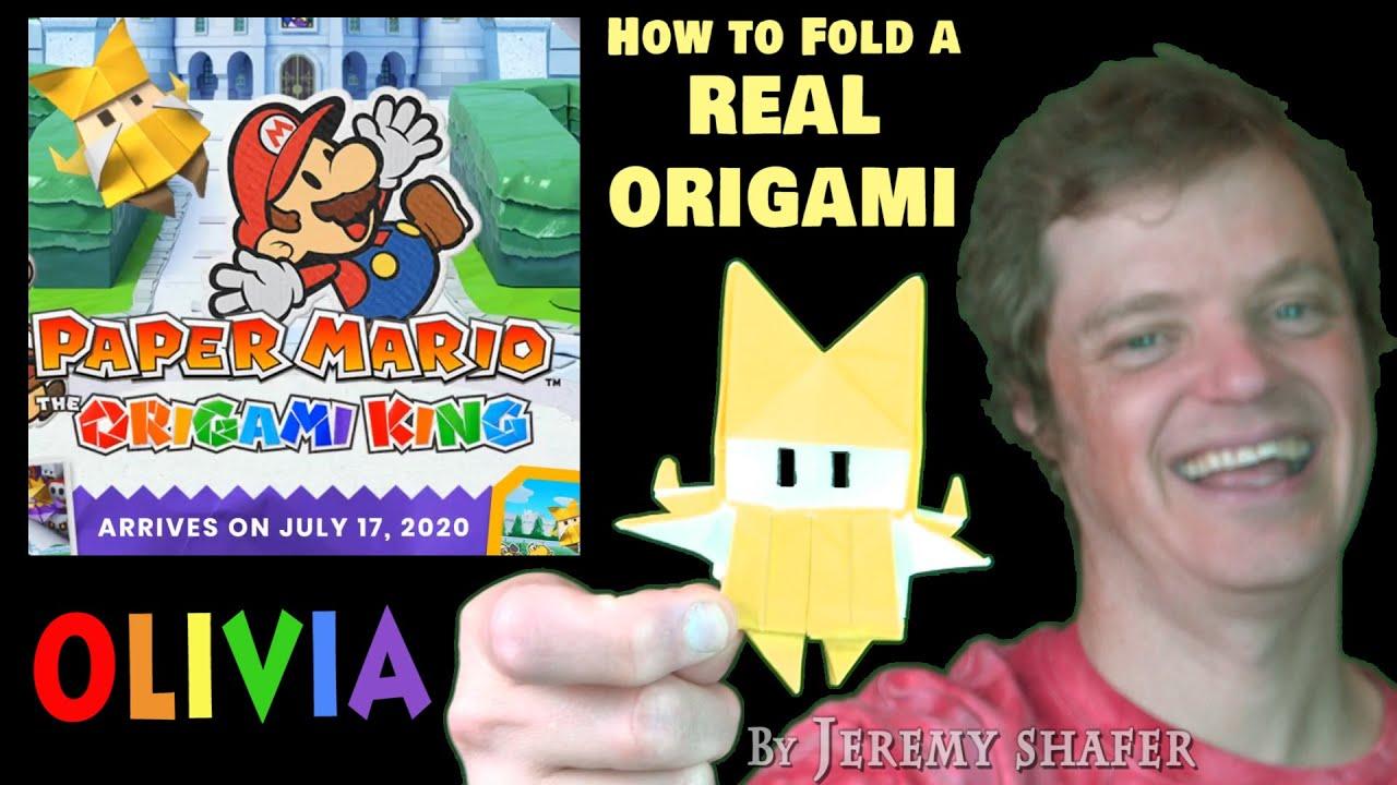 How To Fold Olivia Paper Mario Origami King Youtube